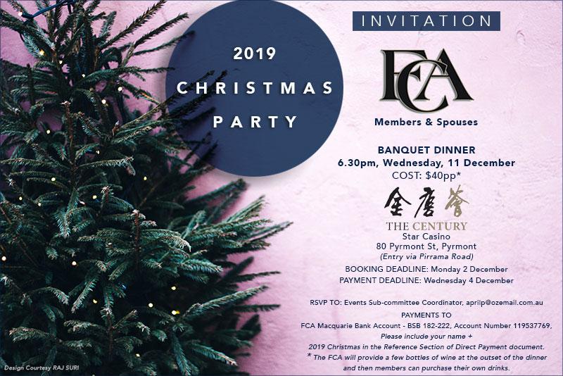 FCA Xmas 2019 Flyer by Raj Suri